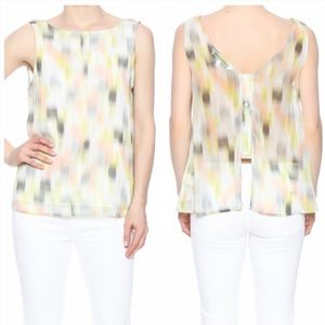 cupcakes & cashmere Sun Brush Abstract Top